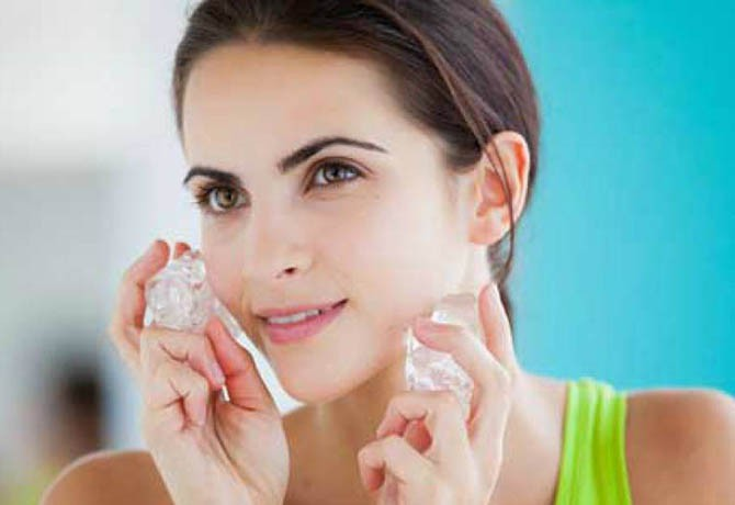 Tratamento de estética usa gelo contra o envelhecimento
