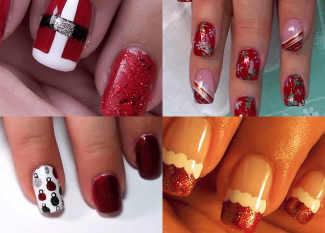 Unhas efeito Natal