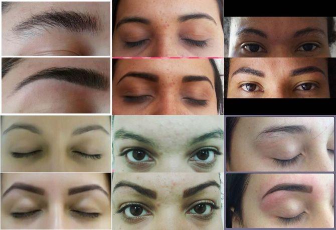 15 sobrancelhas de henna feitas por designer de sobrancelhas