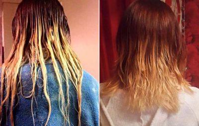 Cai o cabelo da garota ao tentar fazer ombré hair em casa